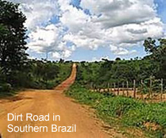 Dirt Road In Southern Brazil